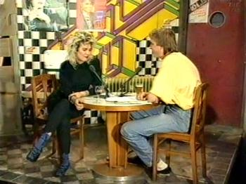 Kim being interviewed by Adam Curry on Europa Countdown, July 8, 1986