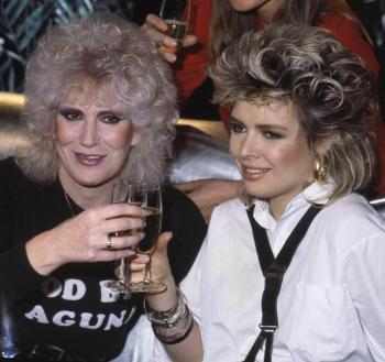 With Dusty Springfield, 1985