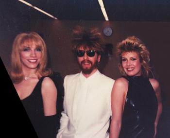 With Eurythmics' Annie Lennox and David A. Stewart, 1983