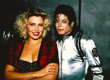 With Michael Jackson, 1988
