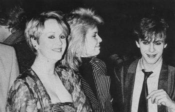 With Susan Anne Sulley (Human League) and Nick Rhodes (Duran Duran), 1982