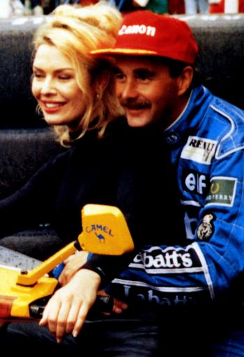 With Nigel Mansell, 1992