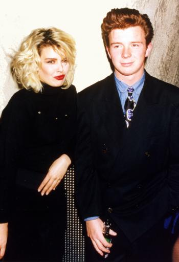 With Rick Astley, 1987