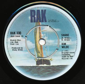 Label for 'Shane' on the B-side of 'Chequered love' in the UK