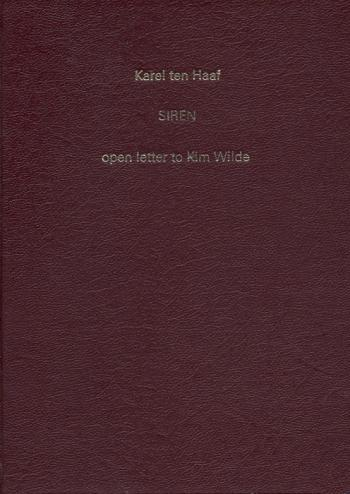 'Siren: open letter to Kim Wilde' book cover