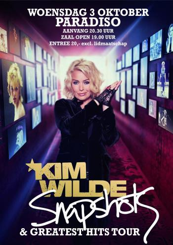 Poster for the concert in Amsterdam as part of the Snapshots & Greatest Hits Tour
