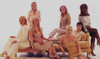 With Clare Grogan, Toyah, Sonia, Mica Paris, Susan Ann Sulley and Joanne Catherall (Human League), 2002