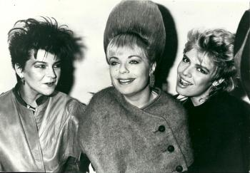 With Toyah and Mari Wilson, 1983