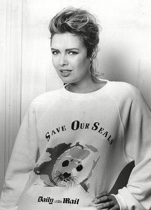 Does this count? Wearing a 'Save our seals' sweater for the Daily Mail in 1988.