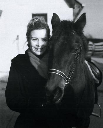 Out horseriding, also in 1990