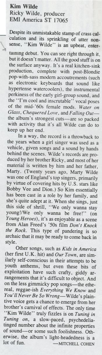 High Fidelity (USA), June 1982