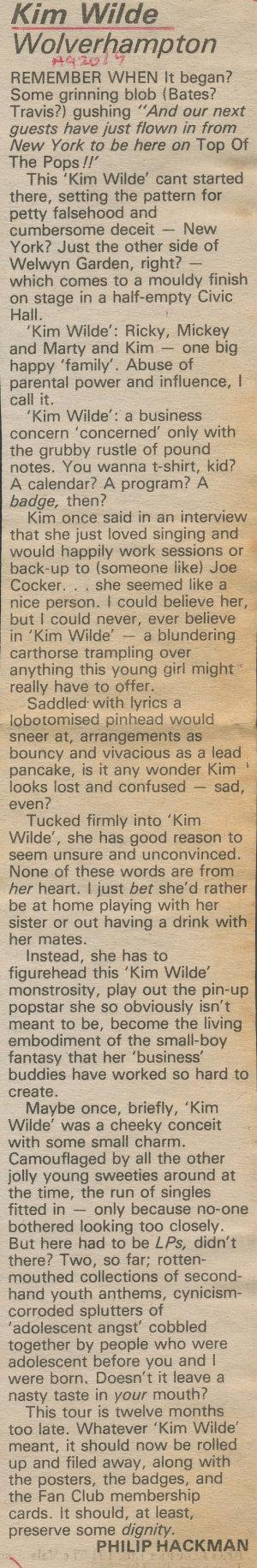 Sounds (UK), October 23, 1982