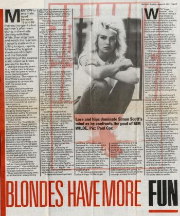 Melody Maker (UK), August 20, 1983