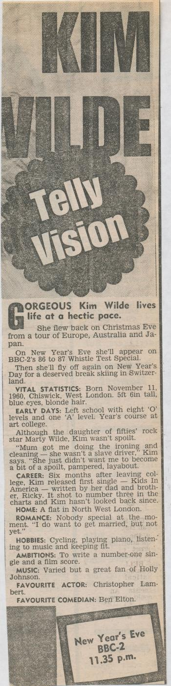 Daily Mirror (UK), December 27, 1986