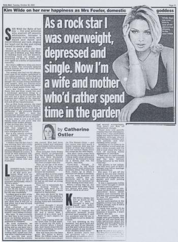 Daily Mail (UK), October 30, 2001