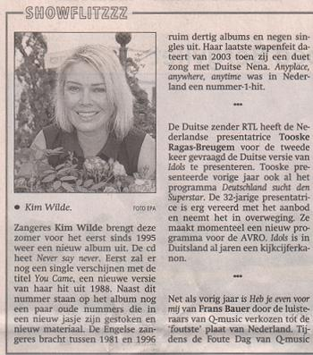 BN De Stem (Netherlands), July 3, 2006