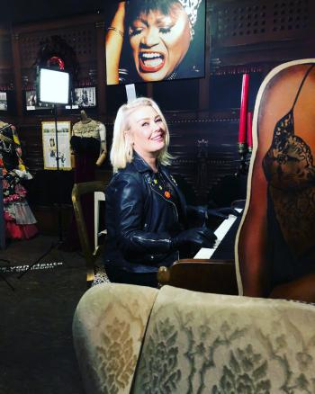 Kim Wilde in @sanktpaulimuseum, posted on March 15