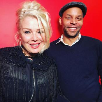 Kim Wilde and @mikemcinsta at BBC Broadcasting House, posted on March 15
