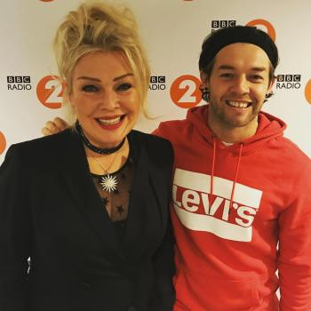 Radio 2 producer @stesoftley with Kim Wilde at Wogan House in London, March 18