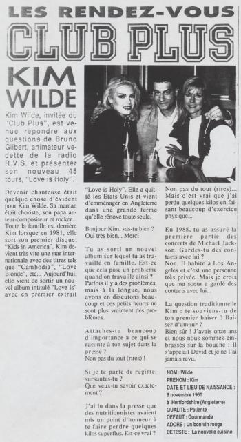 Dorothée magazine (France), June 30, 1992