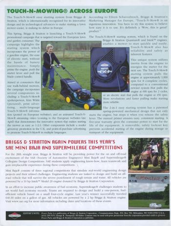 Briggs & Stratton Powerpulse (UK), Spring 2002