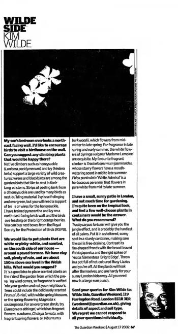 The Guardian (UK), August 17, 2002