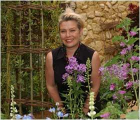 Kim at RHS Hampton Court Flower Show in 2002